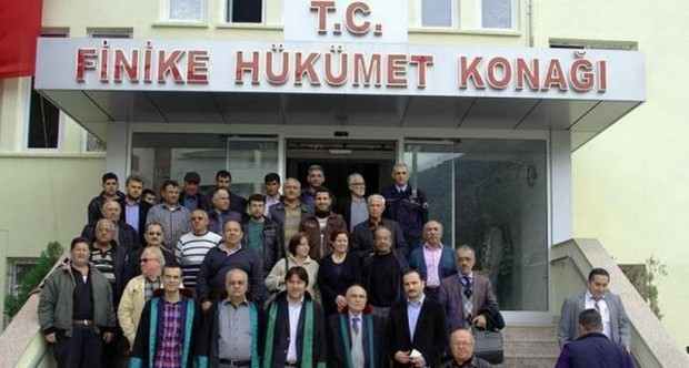 Antalya'da köylüler, mermer ocağı davasına müdahil oldu