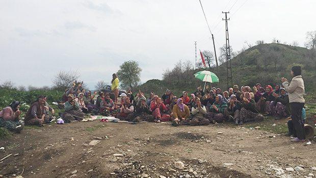 Hacıveliler köyünde kadınların fendi mermer ocağını yendi!