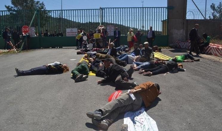 Akkuyu'da çevrecilerden nükleer ablukası