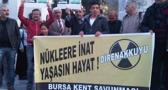 Bursa'da Akkuyu Nükleer Santrali protestosu