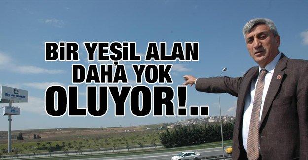 İstanbul'da bir yeşil alan daha yok oluyor