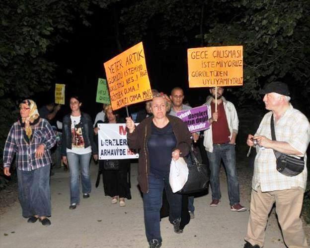 Arhavi'de HES'lere Gece Protestosu