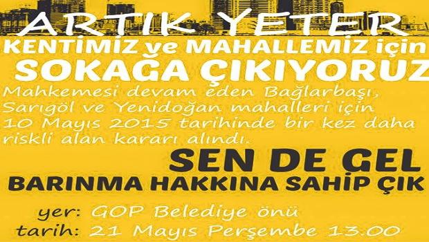 21 Mayıs'ta Gaziosmanpaşa'da Eylem Var