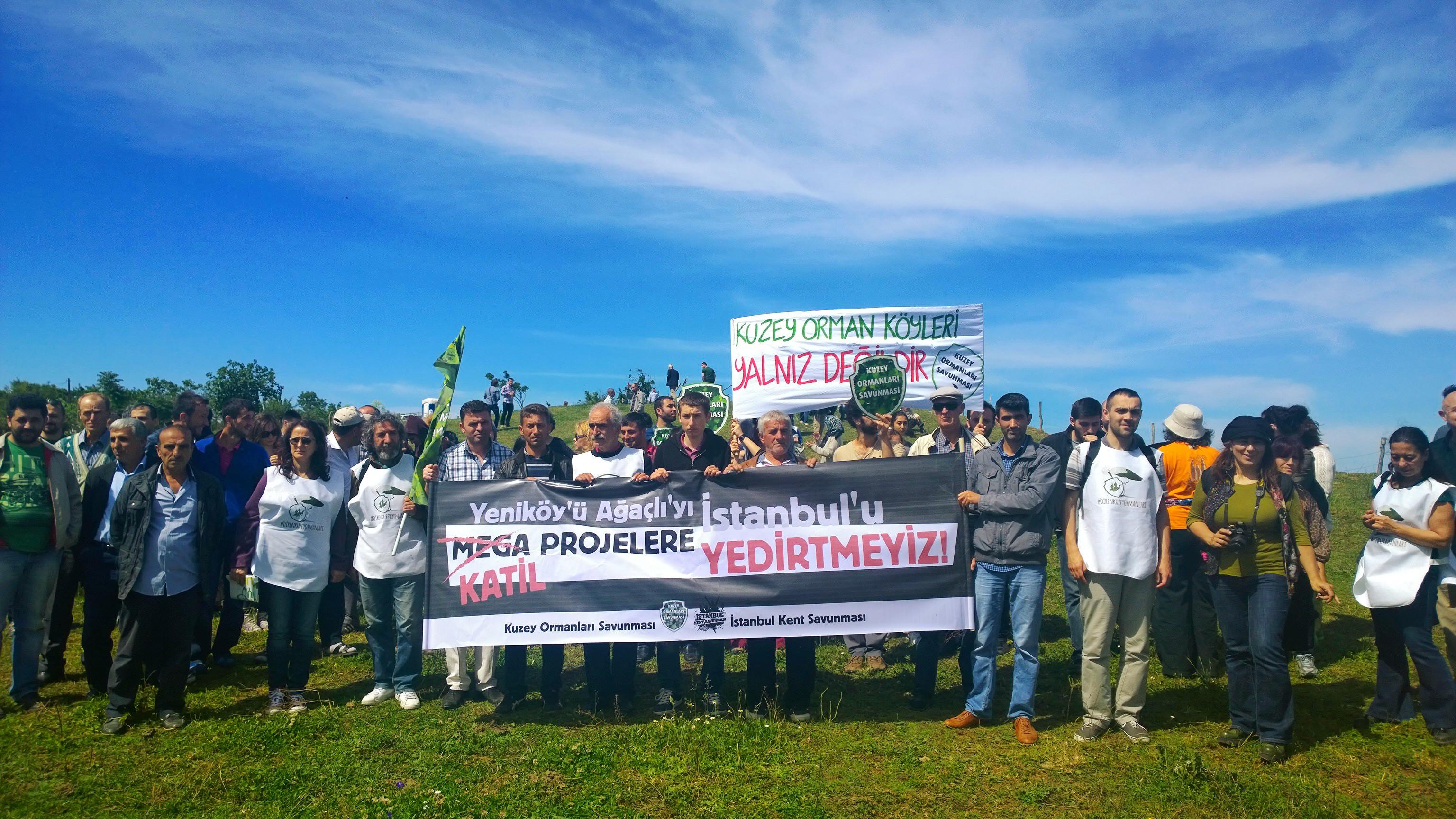 """""""Hepimiz şehre gidersek birbirimizi mi yiyeceğiz?"""" – 29 Mayıs Yeniköy / Kuzey Ormanları eylemi"""