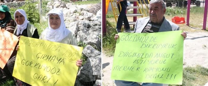 Köylü, bilirkişi heyetini bilgilendirdi: Burdur'a mermer ocağı istemiyoruz!