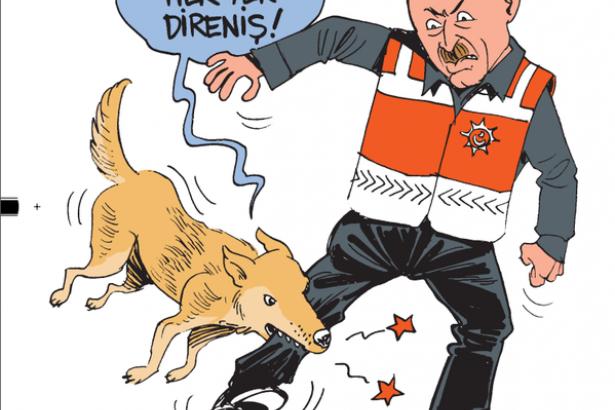 Carlos Latuff '030'u böyle çizdi: Her yer Taksim her yer direniş