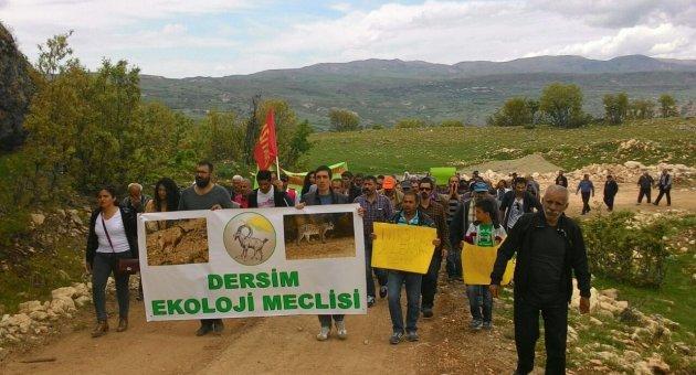 Dersim'de mermer ocaklarına protesto