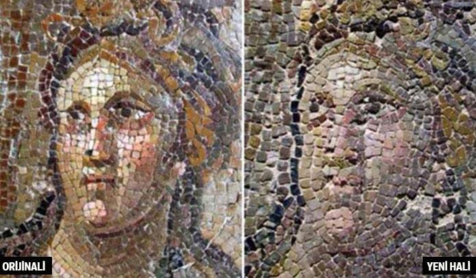 Bir yağmalamadığınız eşsiz Antakya mozaiklerimiz kalmıştı. Restorasyonunuz batsın!
