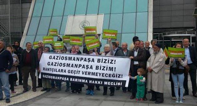 Gaziosmanpaşa'da rantsal dönüşüme hayır eylemi