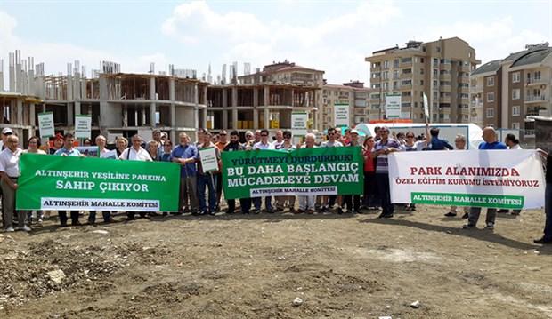 Bursa Altınşehir sakinlerinin park mücadelesi sürüyor