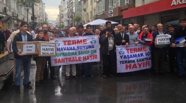 Samsun'da termik santrale karşı 3 günde 29 bin imza