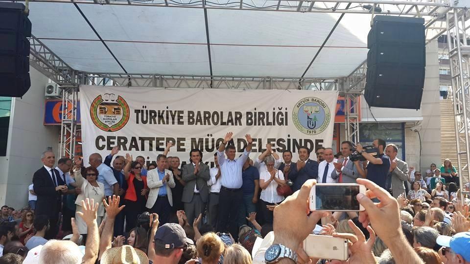 Türkiye Barolar Birliği, Cerattepe Direnişi'ni selamladı