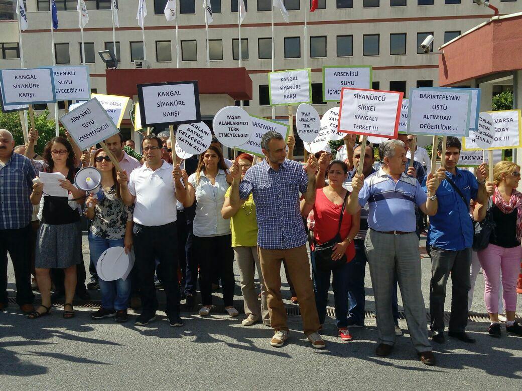 Koç'un Bakırtepe'de madencilik için ali cengiz oyunlarına Kangallılar direniyor: Satılık Toprağımız Yok!