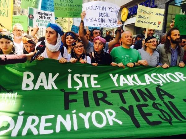 İstanbul'dan 'Yeşil Yol' direnişine selam: Yaylaya gelmeyi kolay mı sandın?
