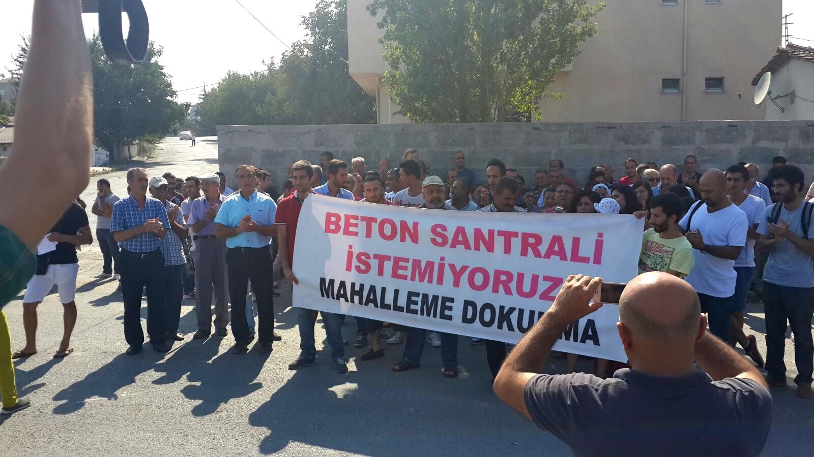Esentepe ve Gazi Mahallesi halkı beton santraline karşı yürüdü