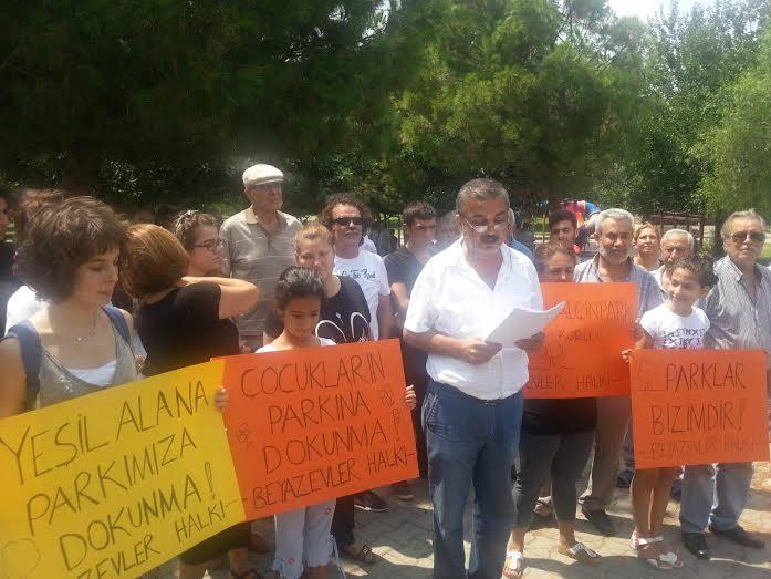Beyazevler halkı parkı için harekete geçti