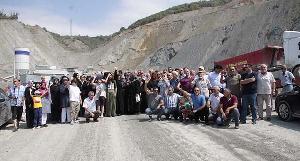 Halıderelilerin taş ocağı isyanı