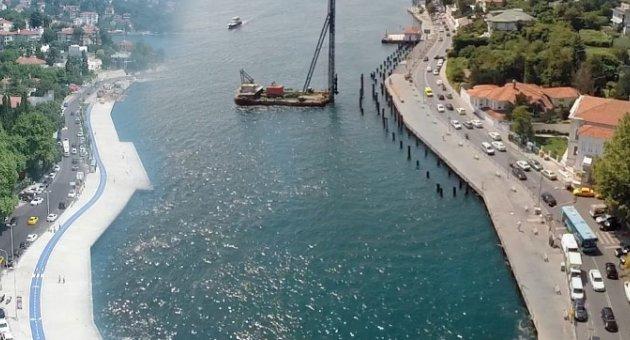 İstanbul Boğazı'nı betonla doldurdular!