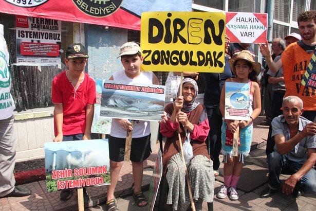 Zonguldak halkı Çatalağzı'nda da ÇED'e 'hayır' dedi