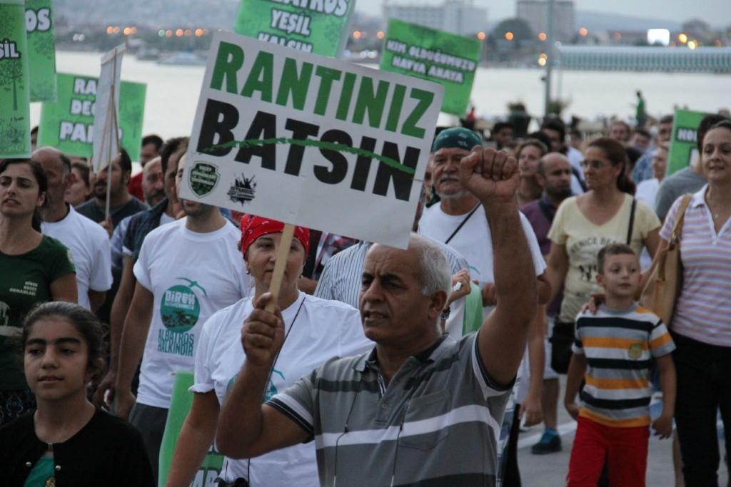 İstanbullu yeşili korumak için nöbette
