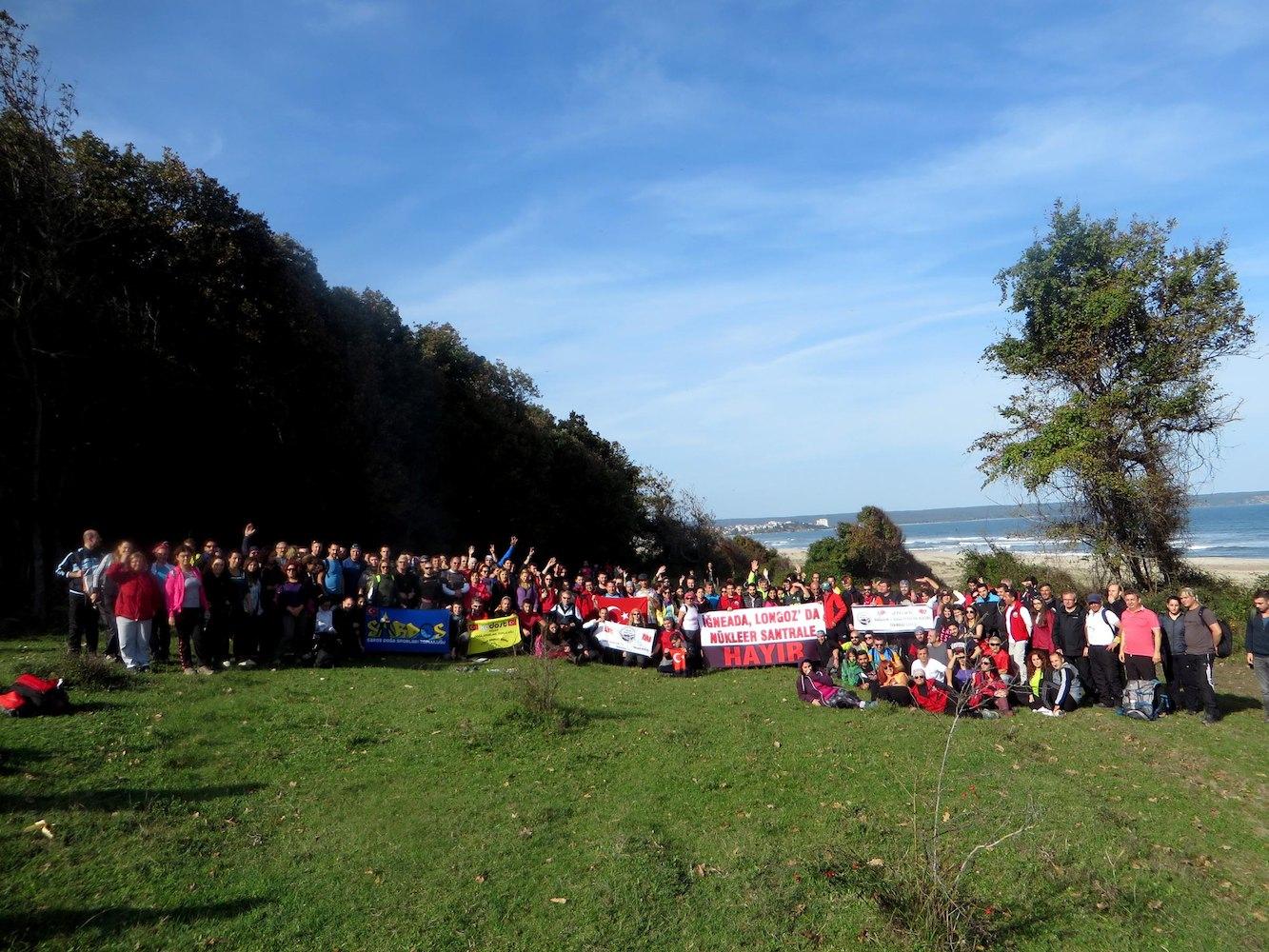 İğneada'da Nükleer Santral Protestosu