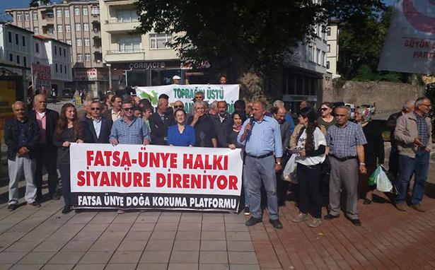 Fatsa ve Ünyeliler siyanürlü altın madenine karşı 30 Ekim'e çağırdı