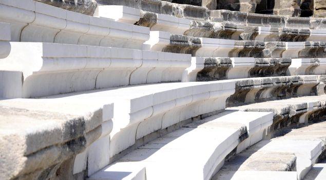 Aspendos'u gezen heyet restorasyonu beğendi: Uluslararası kaidelere uygun