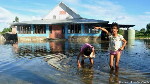 İklim kurbanı çocuklar
