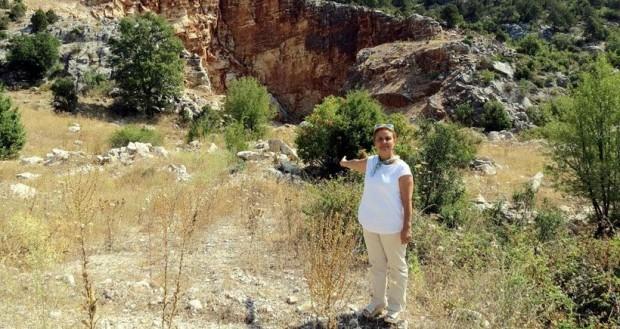 Tarihi sit alanına taş ocağı
