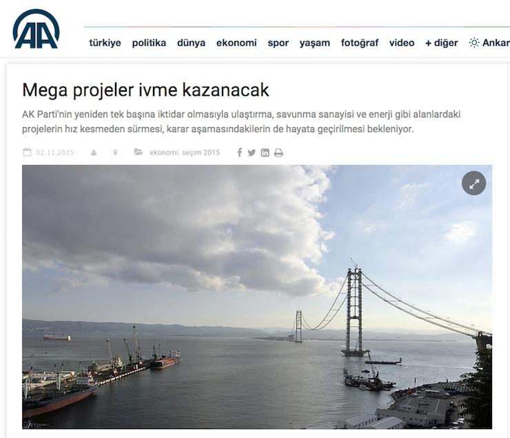 Malumun ilamı Anadolu Ajansı'ndan: Mega projeler ivme kazanacak, Kanal İstanbul yolda