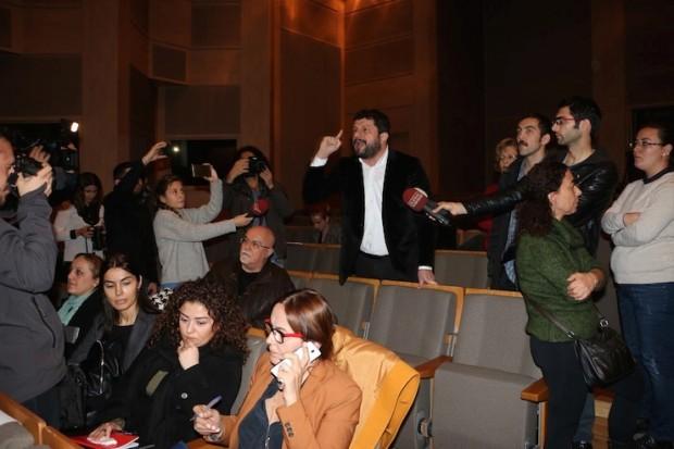 'Haliçport' toplantısına protesto: Usülsüz giden bu süreçte oynanan oyun belli