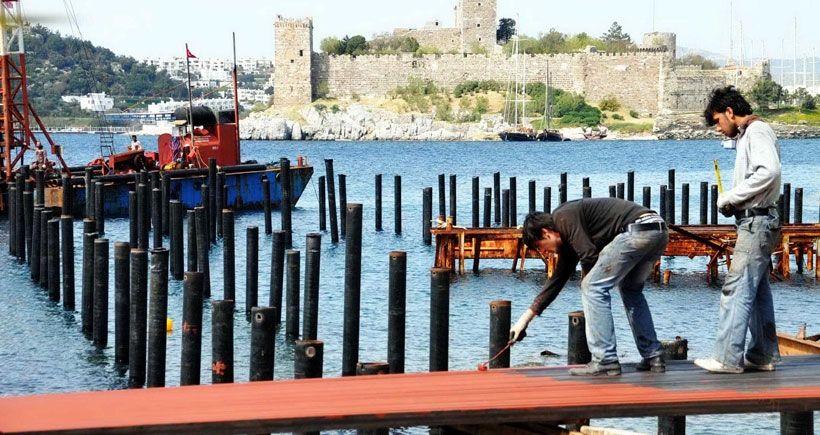 Kazıklı sahilin yeniden ihaleye çıkarılmasına Bodrum Yurttaş İnisiyatifi'nden tepki