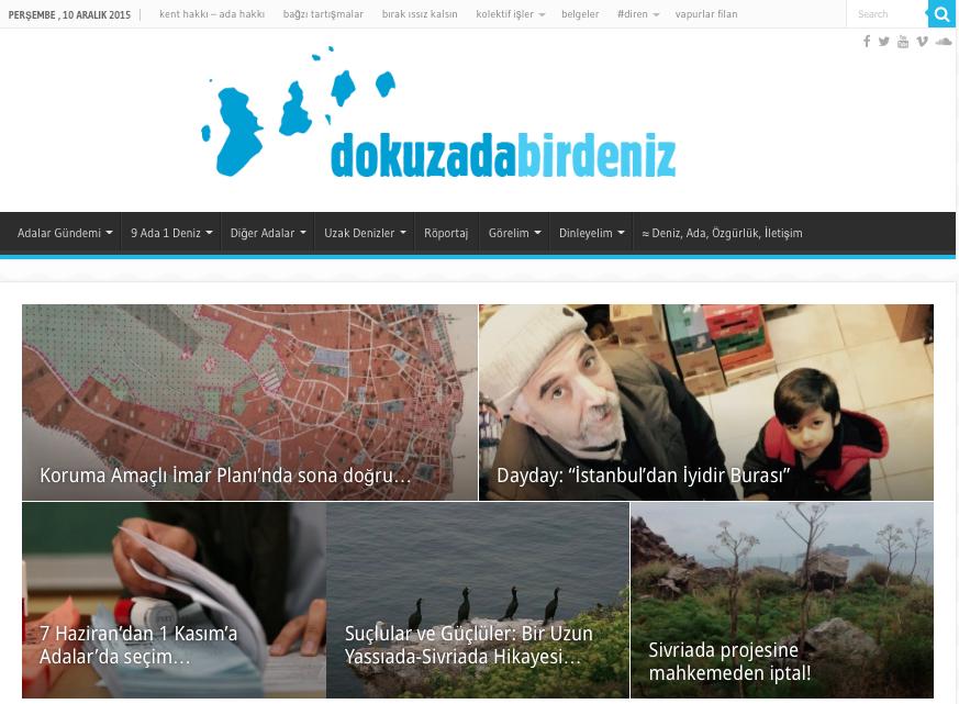 """""""Dokuz Ada Bir Deniz"""" yayında…"""