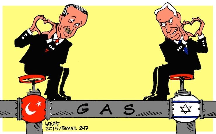 Brezilyalı çizer Latuff, 'Türkiye-İsrail anlaşması'nı da boş geçmedi