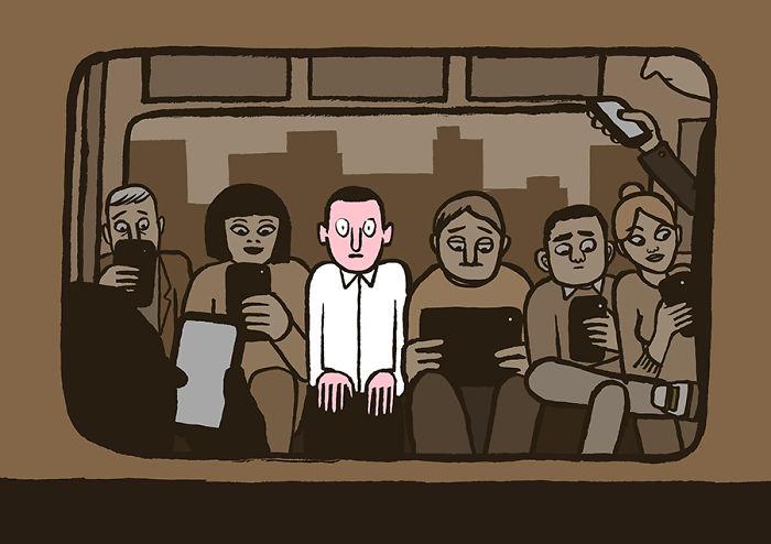 Günümüzün teknoloji bağımlılığını özetleyen 20 illüstrasyon