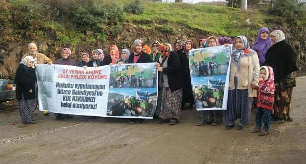 Köylüler Melen Çayı kenarında nöbet tutmaya başladı