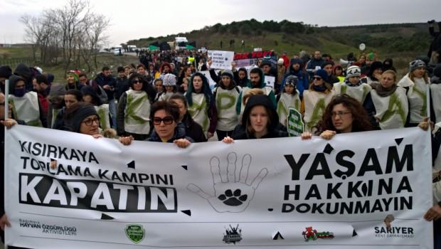 14 Ocak Perşembe Kısırkaya hayvan ölüm kampına karşı İBB önündeyiz!