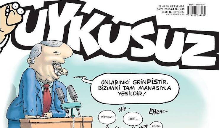 Erdoğan'ın 'çevreci kelime oyunu' Uykusuz'un kapağında: Yorgun kalbim bu espriye dayanmaz