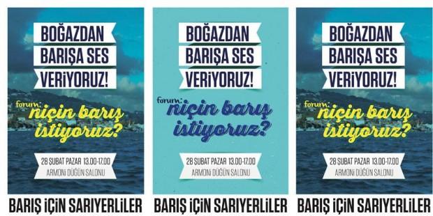 Sarıyerliler, 28 Şubat Pazar günü, Boğaz'dan barışa ses verecek