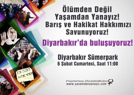 Kadınlar, Diyarbakır'a, Barış nöbeti tutmaya gidiyor