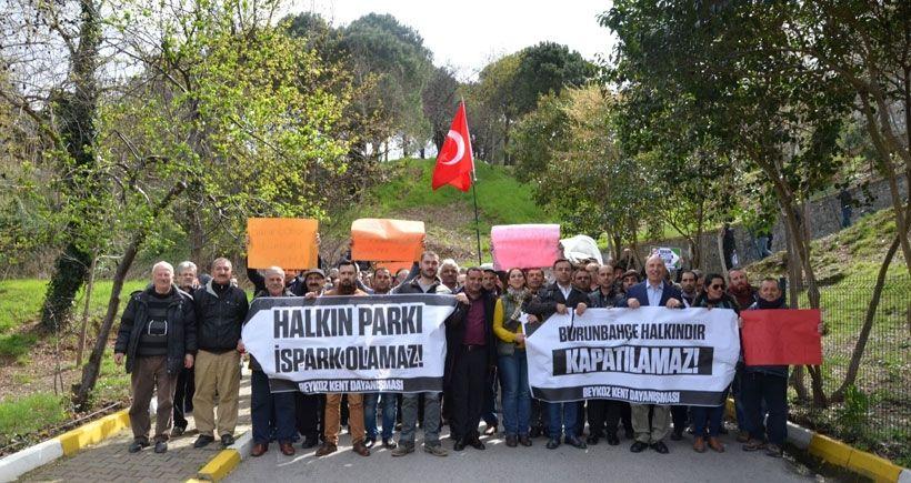 Burunbahçe Sahil'inin halka kapatılmasına karşı eylem