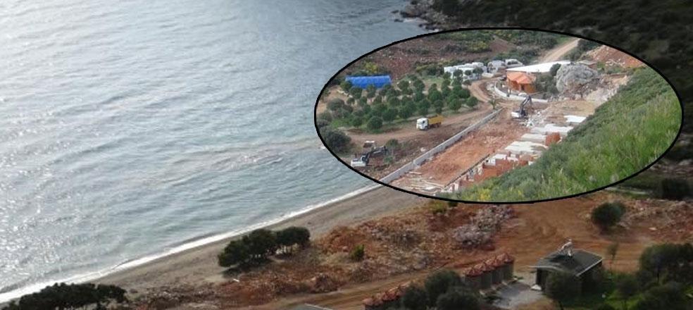 AKP'li belediye ruhsat dağıtıyor… Cennet koy şantiyeye döndü