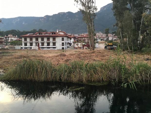 Akyaka Kadın Azmağı yanındaki çevre tahribatı durduruldu