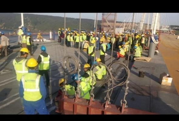 3. köprü'de işçilerin prim isyanı