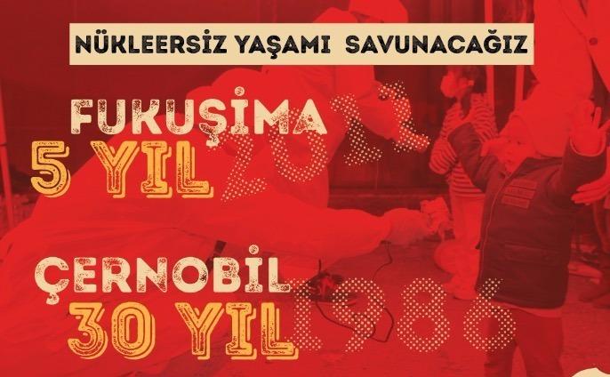 """NKP İstanbul, Cumartesi """"NÜKLEERSİZ YAŞAMI SAVUNUYORUZ"""" etkinliğine çağırıyor"""