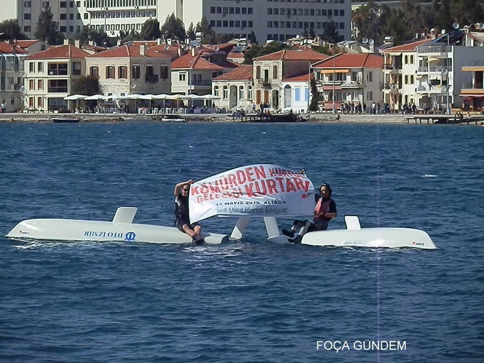Foça'da termik santrallere karşı yelken açtılar