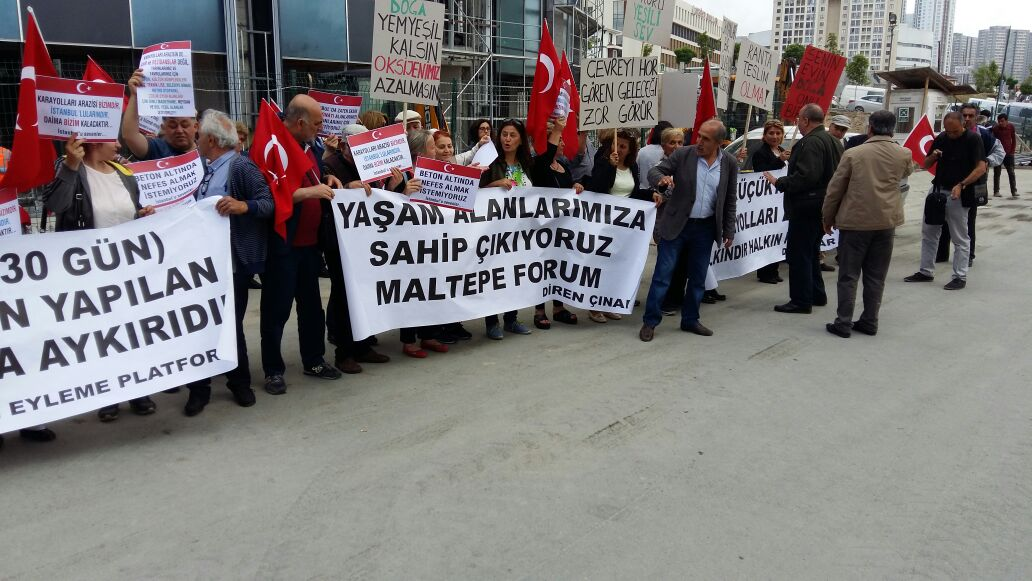 Küçükyalı Karayoları arazisinin ranta açılması protesto edildi