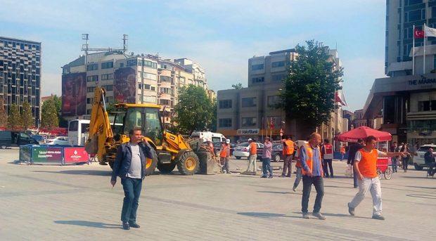 Taksim Meydan şantiyesi