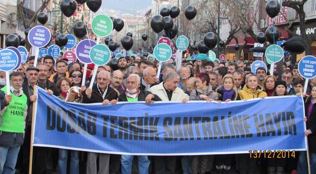 Bursa'da termikçilere karşı zafer yaşamı savunanların