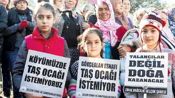 Danıştay İzmir Selçuk ilçesi köylerine açılacak taş ocağına geçit vermedi